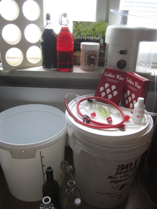 My wine making equipment when I (thankfully) unsuccessfully tried to sell it off a couple years ago.