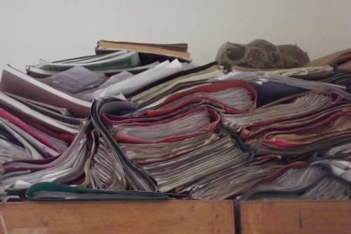 The filing system in the vice-principal's office of a secondary school that I visited